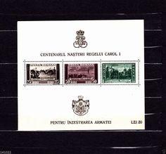 1939 Romania stamp block Michel nr.4 (142x118mm) (1939)