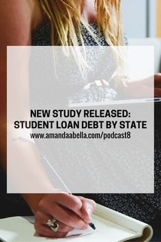 MoneySavingPro.com recently released a study that details the differences in student loan debt among states in the U.S. We have podcast episode that just went live this morning! I've gotten lots of requests for more student loan content and in this week's episode I'm talking about a study released by MoneySavingPro.com that details student loan debt by state. Check it out here: http://www.amandaabella.com/podcast8/