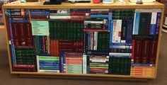 Stacked books.