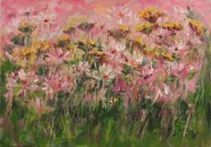 """Saatchi Art Artist Margaret Raven; Painting, """"Ping meadow in the morning"""" #art"""