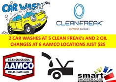 Take Care Of That Ride With 2 Car Washes, 2 Oil Changes & 1 Tire Rotation Just $25 from http://www.monsoondeals.com