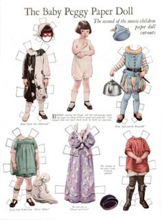BABY PEGGY by Frances Tipton Hunter  Second of the Movie Child Paper Doll