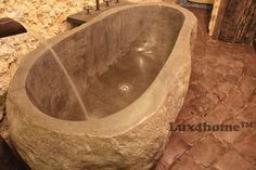 We produce Natural stone bathtubs.... River Stone bathtubs. Quality Lux4home™ - www.Lux4home.com