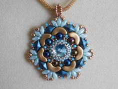 Beading Tutorial Pendant Beaded Pattern Penelope by poetryinbeads