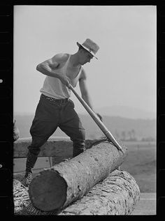 Lumber mill worker, Lowell, Vermont