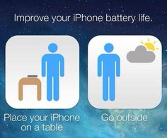 Yahoo's recommendation for better battery life with iOS 7 update. - Imgur