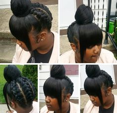 Braid Hairstyles For Black Women – Make no difference whether you sport short or long hair. Find all the latest information regarding braids. Weave Ponytail Hairstyles, Dope Hairstyles, Braided Hairstyles For Black Women, Ponytail Styles, Braid Styles, Updo Hairstyle, Protective Hairstyles, Black Hair Bun, Black Girl Braids