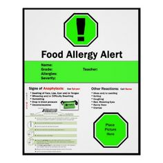food allergy awareness poster - Google Search