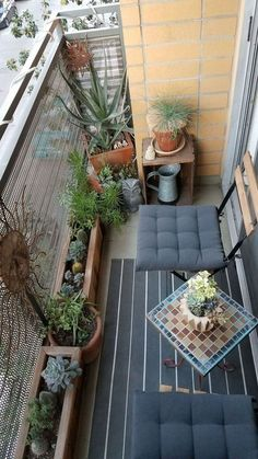 Amazing Small Balcony Ideas To Make Your Apartment Look Great. Below are the Small Balcony Ideas To Make Your Apartment Look Great. This post about Small Balcony Ideas To Make Patio Balcony Ideas, Apartment Balcony Garden, Indoor Balcony, Bedroom Balcony, Apartment Balcony Decorating, Apartment Balconies, Cool Apartments, Apartment Porch, Patio Ideas