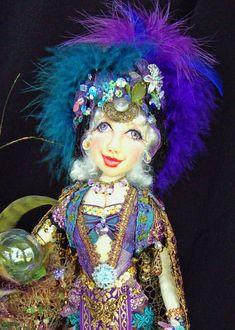 "Gypsy Corina 15"" Cloth Doll Pattern CD and Bonus By Caroline Erbsland Signed $25.00"