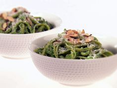 Linguine with Avocado and Arugula Pesto from FoodNetwork.com.....I didn't like the avocado pasta salad I pinned before, but maybe this Giada De Laurentis recipe will outdo that one