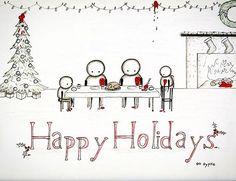 Canvas Prints: www.gypsieraleigh.com Original: AVAILABLE (gypsieraleigh@gmail.com) #happyholidays #merrychristmas #tistheseason #artaddict #sadart #cuteart #cutesketch #sketch #sketches #Morbidcute #family #familyart #GypsieRaleigh
