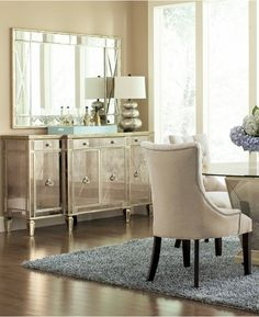 marais mirrored credenza sideboard furniture