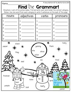 Printables Fun Grammar Worksheets early finishers language and activities on pinterest find the grammar record words from picture tons of fun effective printables could use in literacy lessons or my my