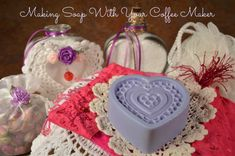 Making Soap With Your Coffee Maker Make something Special for Your Best Friend this Valentine's Day. Yep, it's true. Now you can craft with Your Coffee Maker. http://www.cookingwithyourcoffeemaker.com/595/making-soap-make-something-special-for-your-best-friend/