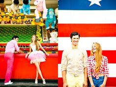 Fashion shoot at Coney Island