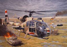 Iraqi helicopter, Gulf War