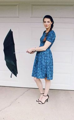 This is the amazing LuLaRoe Amelia dress. Can't say no to a dress with pockets!
