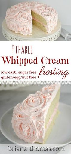 This Pipable Whipped Cream Frosting is THM:S, low carb, sugar free, and gluten/egg/nut free! Sugar Free Frosting, Cookies And Cream Frosting, Whipped Cream Frosting, Frosting Recipes, Healthy Frosting, Sugar Free Desserts, Sugar Free Recipes, Dessert Recipes, Thm Recipes