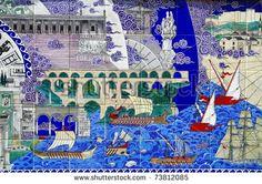 Turkey art wall - stock photo