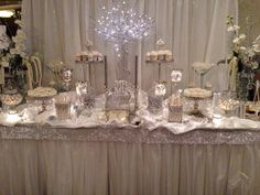 Perfectly Posh Candy Buffets White & Silver Bling Theme