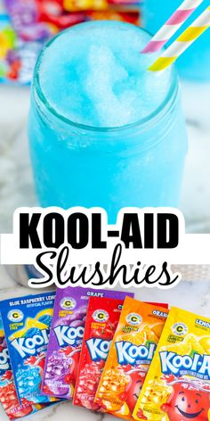Today we are sharing how to make a slushie easily at home. These flavorful, icy drinks taste better than the ones from the store and at a fraction of the cost. The kids will also love being able to pick their own flavor. Fun Cocktails, Fun Drinks, Beverages, Strawberry Drinks, Raspberry Lemonade, Winter Drinks, Summer Drinks, How To Make Slushies, Jolly Rancher Drink