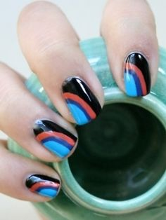 Funky and Simple Nail Art Ideas - Forget about boring, monochromatic nails. It's time to experiment with these funky, yet simple nail art ideas to spice up your hands. Let your manicure speak for your beauty-consciousness.