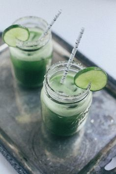 Cucumber Margaritas | The Baking Bird