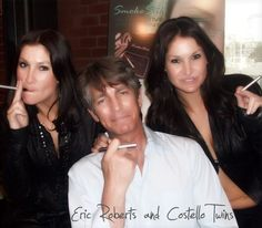 Eric Roberts and Costello Twins – Buffy the Vampire Slayer star is shown sporting a e-cigarette with the Castello Twins. Smoking Celebrities, Famous Celebrities, Celebs, Eric Roberts, Help Quit Smoking, Up In Smoke, Vape Tricks, Vape Juice, Get Healthy