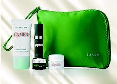 LA MER - With the purchase of any two La Mer products, one being a moisturiser, receive your choice of four deluxe miniatures with a Complimentary Travel Bag. August 2013, Moisturiser, Travel Bag, Free Gifts, Theatre, Miniatures, Accessories, Beauty, Promotional Giveaways
