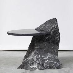 "3,062 Me gusta, 9 comentarios - db - design bunker (@designbunker) en Instagram: ""Fragments Table by Lex Pott! - - - - - - - #table #rock #coffeetable #tabledesign #metal…"""