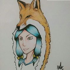 Foxy amaterasu fan art by @rafael_sa.av
