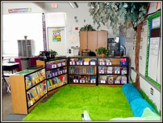 Classroom Environment - A Teacher Out of the Box - large group meeting area using large blankets instead of a carpet