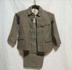 Boy's military style school uniform, circa late 1930's