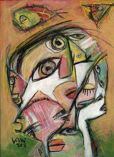 """""""Aquarium"""" (2011), by Ken Law. Mixed media on paper"""