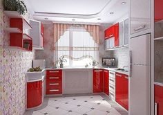modular kitchen cabinets for modern kitchen design ideas and remodeling ideas 2019 for indian homes latest kitchen interior design trends 2020 source Kitchen Units, Red Kitchen, Home Decor Kitchen, Kitchen Furniture, Home Kitchens, Furniture Design, Modern Kitchen Design, Interior Design Living Room, Kitchen Designs