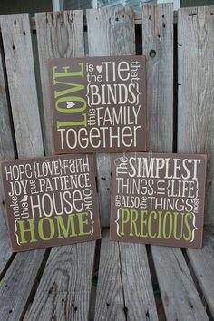 Primitive love family home wood sign family wedding birthday christmas mothers day love gift. Customize CoLoRs . . . PeRfEcT Decor and Gift. $64.95, via Etsy.