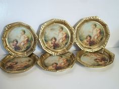 Vintage cherub angel coasters gold Florence by ALEXLITTLETHINGS