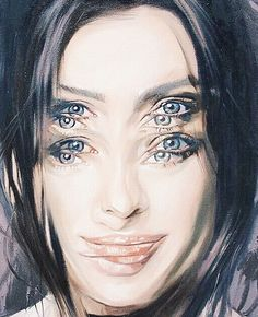 If I would ever have an artist draw a portrait of me it would definitly be Alex Garant. Her paintings are unbelievably special don't you think? So crazy what you can do with just oilpaint. #portraitart