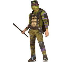 Teenage Mutant Ninja Turtle Donatello Boy Deluxe Muscle Chest Halloween Costume, Size: Small, Multicolor