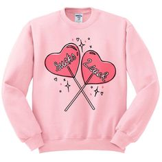 Sucks 2 Suck Crewneck Sweatshirt, Heart Shirt, Candy Sucker Top... (€17) ❤ liked on Polyvore featuring tops, hoodies, sweatshirts, crew-neck sweatshirts, fleece crew sweatshirt, crewneck sweatshirt, crew neck shirt and fleece sweatshirt