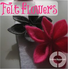 Cocalores: Felt Flowers - A Five Minute Project Diy Wedding Projects, Diy Projects To Try, Felt Crafts, Crafts To Make, Diy Crafts, Felt Projects, Felt Flowers, Diy Flowers, Fabric Flowers