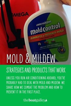 You don't have to suffer from mold and mildew on your boat. Here's how keep it at bay. Boat Cleaning, Cleaning Mold, Diy Cleaning Products, Family Boats, Mold And Mildew, Pontoons, Conditioner, Bys, Sailing