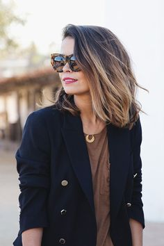 Balayage has been around for a long time now and the trend is hanging on as it's a matchless way of colouring that gives personal results. Balayage is a. 2015 Hairstyles, Pretty Hairstyles, Medium Hair Styles, Short Hair Styles, Look 2017, Corte Y Color, Lob Hairstyle, Hairstyle Ideas, Ombre Hair Color