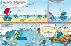 Smurfs surfing