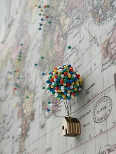 Wanderlust! I love this little pin thing mimicking the UP house and balloons <3