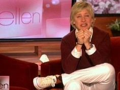 Ellen DeGeneres crying. It upset me so much to see a normally happy, bubbly person so upset, but have to re pin because she's human.