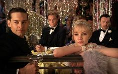 The great gatsby - dinner menu and fonts from the book and movie
