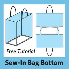 Sewing Gifts Free Tutorial: Easy Sew-In Support for Bag Bottoms – Lazy Girl Designs - Easy free tutorial for sew-in support for bag bottoms. Measure, cut and sew Stiff Stuff interfacing into the bag bottom for built-in structure. Sewing Hacks, Sewing Tutorials, Sewing Projects, Bag Tutorials, Tutorial Sewing, Sewing Tools, Purse Patterns, Sewing Patterns, Tote Pattern