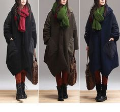 3colors oversized cardigan Loose irregular woolen cloth by Aolo, $133.00